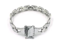 CoolChange Attack on Titan Metall Armband mit Wappen des Aufklärungstrupp…