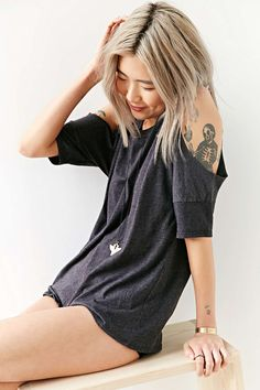 Mouchette Cold Shoulder Tee - Urban Outfitters