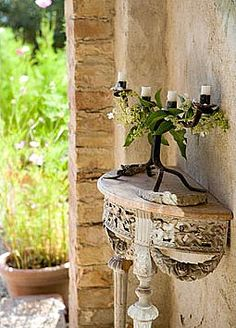 Table - #Tuscan #Home #Design - Find More Decor Ideas at: http://www.IrvineHomeBlog.com/HomeDecor/ ༺༺ ℭƘ ༻༻ and Pinterest Boards - Christina Khandan - Irvine California
