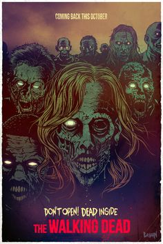 The Walking dead poster by Lokhaan- available at https://lesbellesaffiches-store.com/fr/
