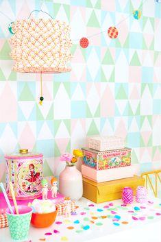 Wallpaper Paste, More Wallpaper, Striped Wallpaper, Geometric Wallpaper, Easy Up, Wallpaper Companies, Wall Candy, Kids Room Wallpaper, Lights