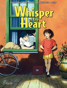 Whispers of the Heart Anime Movie Whispers of the Heart Anime Movie Studio Ghibli Poster, Art Studio Ghibli, Studio Ghibli Movies, Japanese Animated Movies, Animes To Watch, M Anime, Anime Reccomendations, Japon Illustration, Japanese Poster