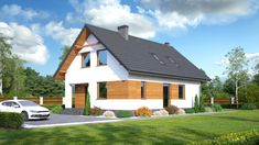 Wizualizacja DP gładyszów 13 CE Shed, Outdoor Structures, Cabin, Architecture, Bedroom, House Styles, Home Decor, Gable Roof, Projects