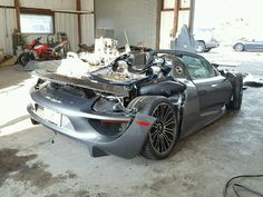 Porsche fans look away as a 918 Spyder looks to have been involved in a serious crash. All that's left is a hulking heap of wires, metal and carbon fiber. A photo showing the odometer reveals that the car had only been driven 92 miles before meeting its demise. The shot also reveals that this...