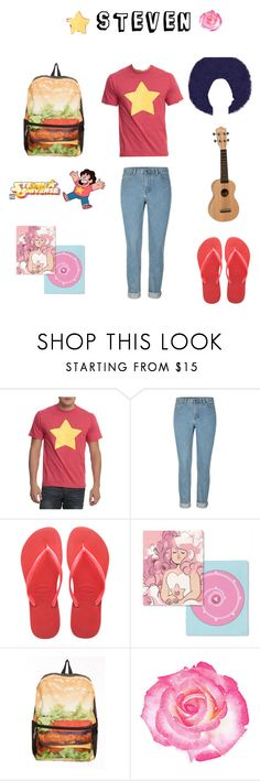 """""""Steven"""" by albaoreo on Polyvore featuring Havaianas"""