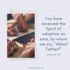 As Romans reminds us, we've received a Spirit of adoption, too. Adopting Older Children, Adopting A Child, Foster Care System, Foster Care Adoption, Oldest Child, Important Facts, Christian Parenting, Things To Know, Romans