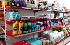 Lucy Sparrow's 'Cornershop' in Wellington Row, East London. The contents of the shop have all been stitched by Sparrow in felt