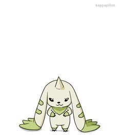 terriermon animation excited digimon digimon tamers
