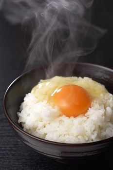 Tamago Gohan -rice with fresh egg and soy source