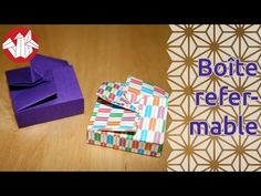Origami - Boîte refermable - Resealable box [Senbazuru] - YouTube