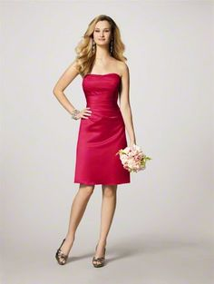 Short red dresses for bridesmaids, something like this.