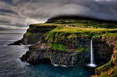 Village Gasadalur, Faroe Islands, Denmark