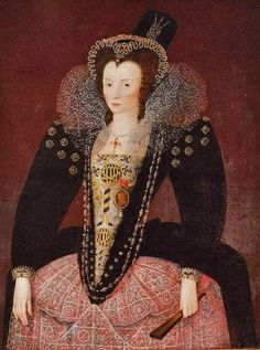 1595 Unknown Lady painted by the Circle of Marcus Gheereaerts II .