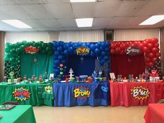 Pj mask party. Triple balloon arch