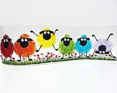 Handcrafted Fused Glass Art – Rainbow Sheep Wave Sheep wave inspired by the crazy mischievous Welsh sheep Measuring approximately X Broken Glass Art, Sea Glass Art, Stained Glass Art, Shattered Glass, Glass Fusion Ideas, Fused Glass Ornaments, Fused Glass Bowl, Glass Fusing Projects, Glass Art Pictures