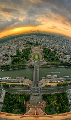 Sunset from Eiffel Tower, Paris