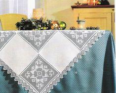 Dantel Mutfak Takımı Masa Örtüsü Modelleri Dantel mutfak masa örtüsü modeli.Bu örnegin baslangici tam orta kismindan baslaniyor daha sonra uçlara dogru örülüyor .Alttaki resimlerden bakarak modeli çikarabilirsiniz daha sonra peçetesinide yayinlayacagim. Crochet Fabric, Crochet Quilt, Crochet Books, Crochet Lace, Filet Crochet Charts, Crochet Borders, Tablecloth Fabric, Crochet Tablecloth, Tablecloths