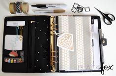 Kikki.K planner in black and gold colour scheme (Filofax)