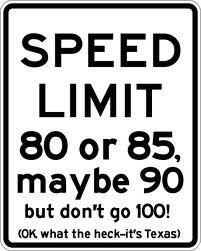 speed limit is way faster than Georgia! HaHa!