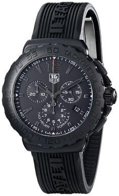 TAG Heuer Men's CAU1114.FT6024 Formula 1 Black Dial Black Strap Chronograph Watch