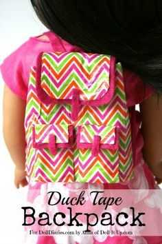 Anna here! I have a crafting version of the cute backpacks that are out this season. Bold prints, flaps and big pockets is what I'm going for!This is also an unsuspecting repurpose craft b…