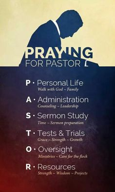 We don't have, nor have we had a Pastor since our church closed almost 2 years ago. However, this is great to pray for our Pastor friends, & the last Pastor we did have. Pray for a Pastor today.