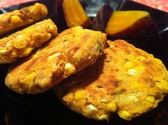 Baked Low Fat Vegan Gluten Free Corn Fritters | Tales of a Vegan Food Fetishist