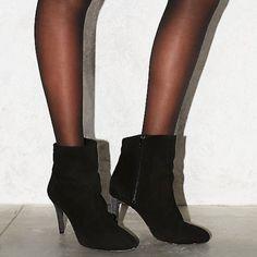 Free People Stiletto heel bootie Free People black suede stiletto heel bootie. Made in Portugal. Size 37. Heel 3 1/2' Free People Shoes Ankle Boots & Booties