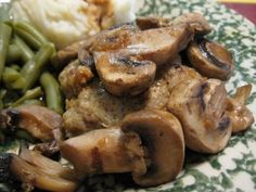 (ground turkey) Salsbury Steak recipe.  My hubby will be VERY excited about this...