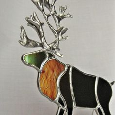 Love this stained glass reindeer!