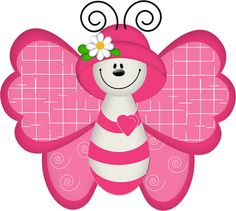 "Photo from album ""Рисованные бабочки"" on Yandex. Butterfly Books, Butterfly Clip Art, Paper Butterflies, Butterfly Mobile, Pink Butterfly, Gifs Disney, Art Papillon, Cute Clipart, Tole Painting"