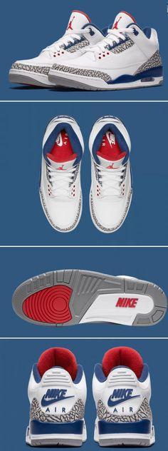 cebfe54375c9 Air Jordan 3 Retro White Blue Men shoes