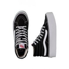 c7b51a470d0713 Vans Sk8-Hi Platform Canvas Black True Girl Shoes ( 41) ❤ liked