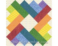 Siena Square quilt block pattern paper by PieceByNumberQuilts
