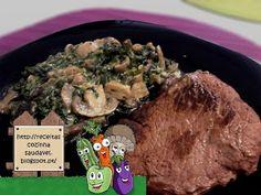 Bife de Vaca Grelhado com Cogumelos Cremosos - fase 1