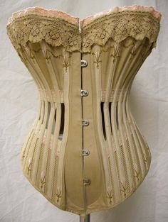 """Ventilated Corset, """"R & WH Symington & Co were corset manufacturers with their main factory in Market Harborough. They specialized in the manufacturing of corsets using factory-based, mass. Vintage Corset, Vintage Underwear, Victorian Corset, Vintage Lingerie, Victorian Era, Victorian Fashion, Vintage Fashion, Retro Mode, Vintage Mode"""