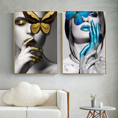 Cheap abstract wall art, Buy Quality art pictures directly from China wall art picture Suppliers: Abstract Wall Art Pictures Fashion Woman butterfly Lips Gold And White Black Modern Home Canvas Painting Beauty Decor Posters Modern Art Pictures, Black Art Pictures, Wall Art Pictures, Painting Pictures, Art Papillon, Images D'art, Black And White Wall Art, White Gold, Metal Tree Wall Art