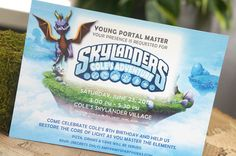 Skylanders Personalized Party Invitation by partyinvites on Etsy, $10.00