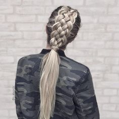 Five strands Dutch braid. So beautiful #braids