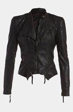 BLANKNYC Faux Leather Jacket available at #Nordstrom. This jacket is so comfortable. I love it!!!