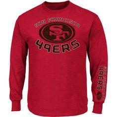 Big Men's NFL San Francisco 49ers Long Sleeve Tee...up to 3X