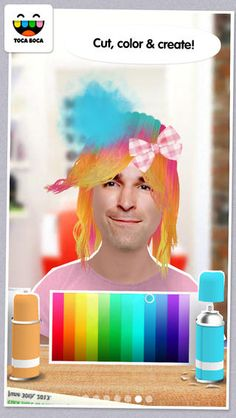 Toca Hair Salon Me by Toca Boca AB ($0.00 on 2-27-16!!!) One of my favorites.  So much to talk about with this fun app.  Kids love seeing themselves in apps! Won't stay free, so download now!