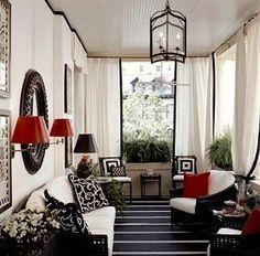 black and white and red | HAMPTONS STYLE