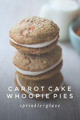 You have to try this recipe for CARROT CAKE WHOOPIE PIES by @sprinkleglaze! No Bake Eclair Cake, Whoopie Pies, Eclairs, Ground Cinnamon, Carrot Cake, Pie Recipes, Baking Soda, Sprinkles, Carrots