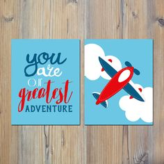 You Are Our Greatest Adventure Airplane Clouds by indulgemyheart