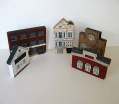 Lot of 5 Cat's Meow village buildings Vintage by jewelryandthings2