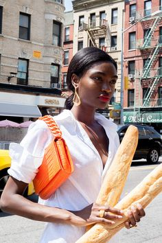 These baguettes in my hands are arguably even more secure than what's in that purse.