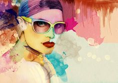 Girl With Sunglasses | Abstract Wallpapers | Wallpaper Ink