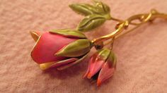Vintage Pink Rose Brooch by rarefinds4u on Etsy, $10.15