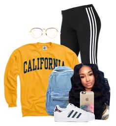 """""""✌✌"""" by melaninprincess-16 ❤ liked on Polyvore featuring adidas, Linda Farrow and Casetify"""